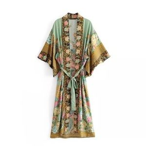 Spell and the gypsy style long kimono size small